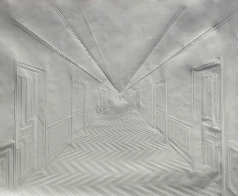 artwork made from a folded sheet of paper simon schubert (2)