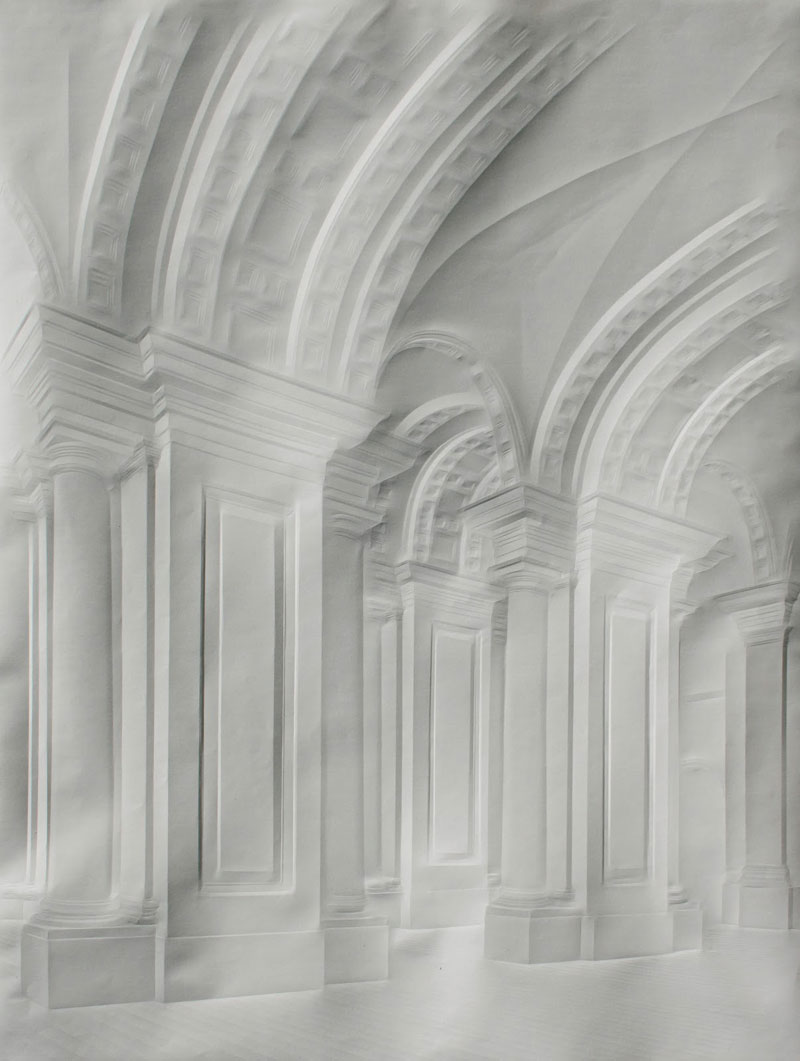artwork made from a folded sheet of paper simon schubert (5)