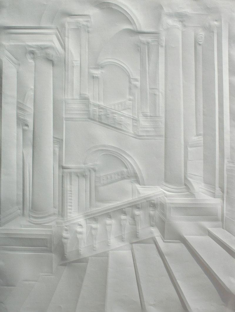 artwork made from a folded sheet of paper simon schubert (7)