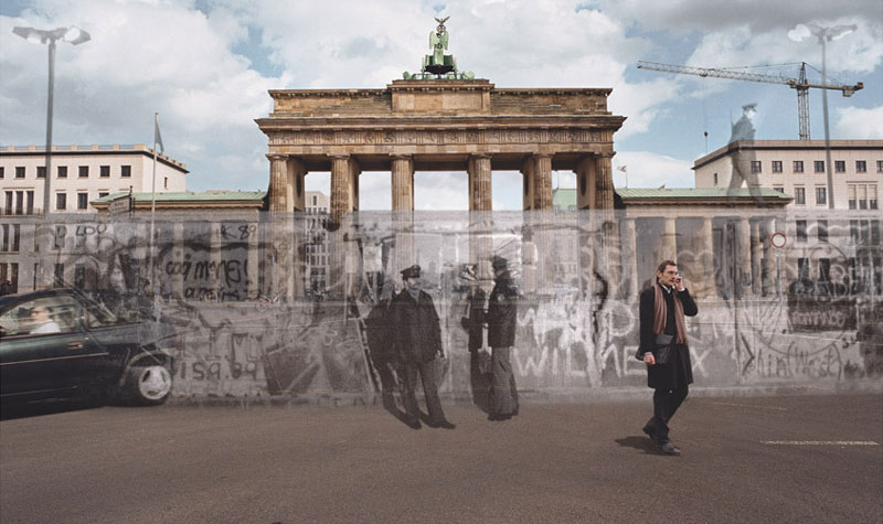 blending historic moments into present day photos and locations seth taras history channel know where you stand berlin wall