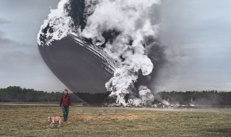 blending historic moments into present day photos and locations seth taras history channel know where you stand hindenburg crash