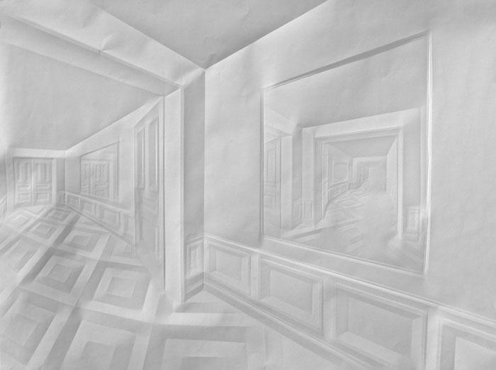 folded paper crease art reliefs simon schubert (4)