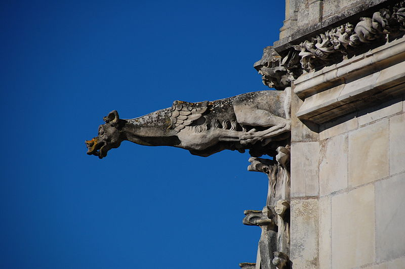 Gargoyle_at_Chateau_dAmboise_france