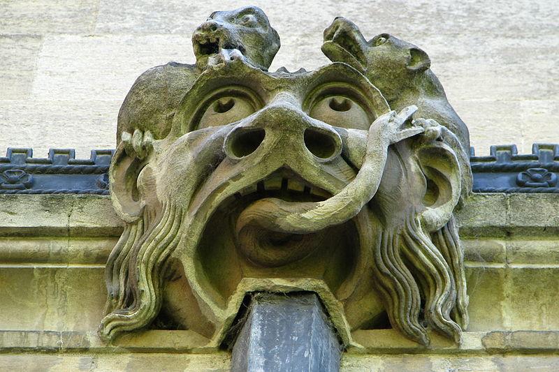 Gargoyles Magdalen College Oxford England