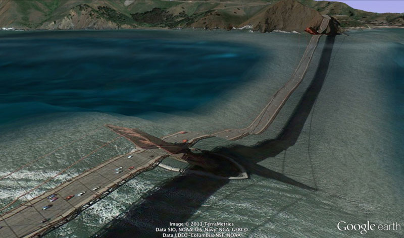 golden gate bridge google earth glitches errors clement valla (2)