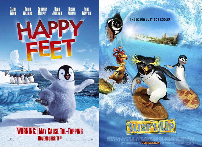 Happy-Feet-(2006)-and-Surfs-Up-(2007)