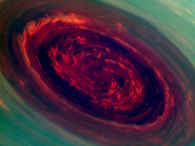 Saturn's 2000 km Wide Hurricane Eye