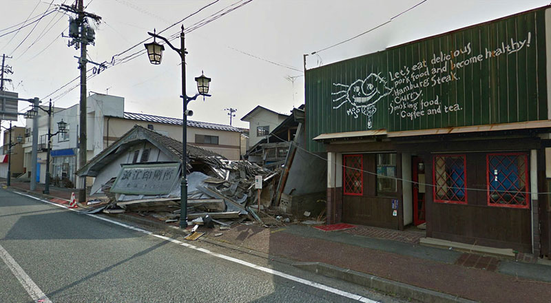 japan after 2011 earthquake and fukukshima google maps street view 15 Haunting Google Street Views of the Great East Japan Earthquake