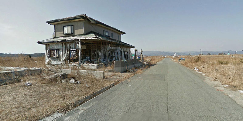 japan after 2011 earthquake and fukukshima google maps street view 18 Haunting Google Street Views of the Great East Japan Earthquake