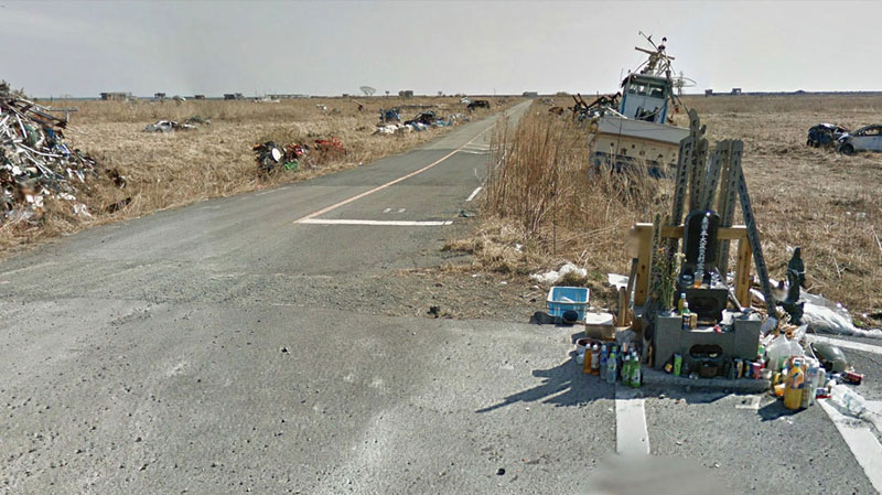 japan after 2011 earthquake and fukukshima google maps street view 19 Haunting Google Street Views of the Great East Japan Earthquake