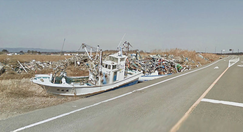 japan after 2011 earthquake and fukukshima google maps street view 8 Haunting Google Street Views of the Great East Japan Earthquake