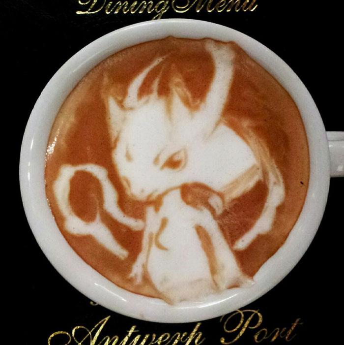 latte coffee art kazuki yamamoto george_10g twitter (10)