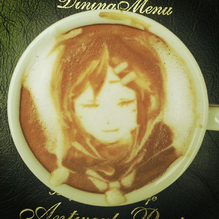 latte coffee art kazuki yamamoto george_10g twitter (11)
