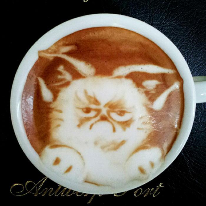 latte coffee art kazuki yamamoto george_10g twitter (15)