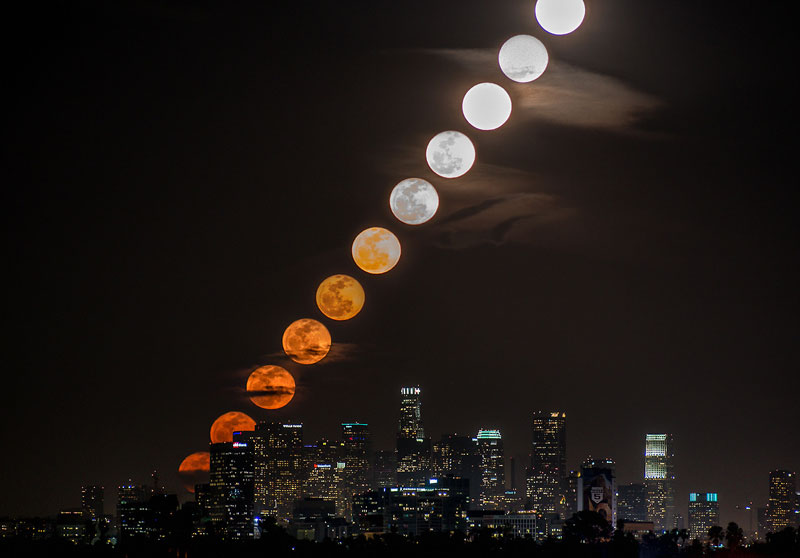 moonrise timelapse over la The Top 100 Pictures of the Day for 2013