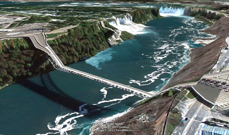 niagra-falls google earth glitches errors clement valla