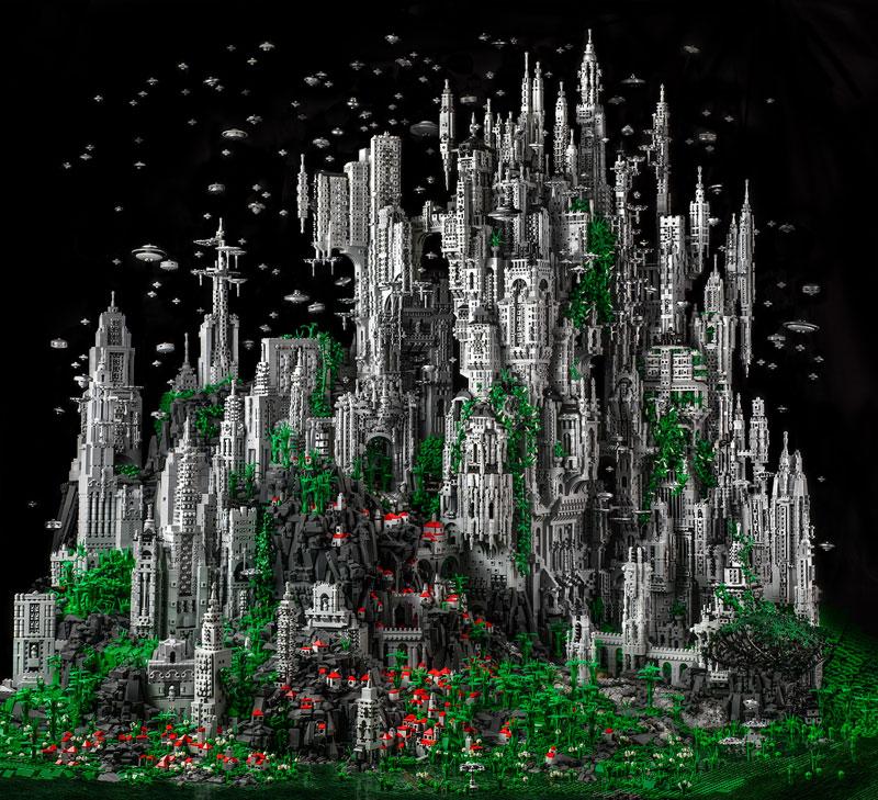 Master LEGO Builder Creates Epic 200,000 Piece Fantasy World
