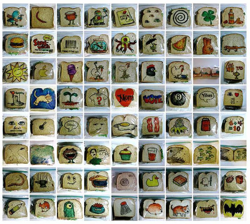 sandwich bag art with a marker david laferriere (3)