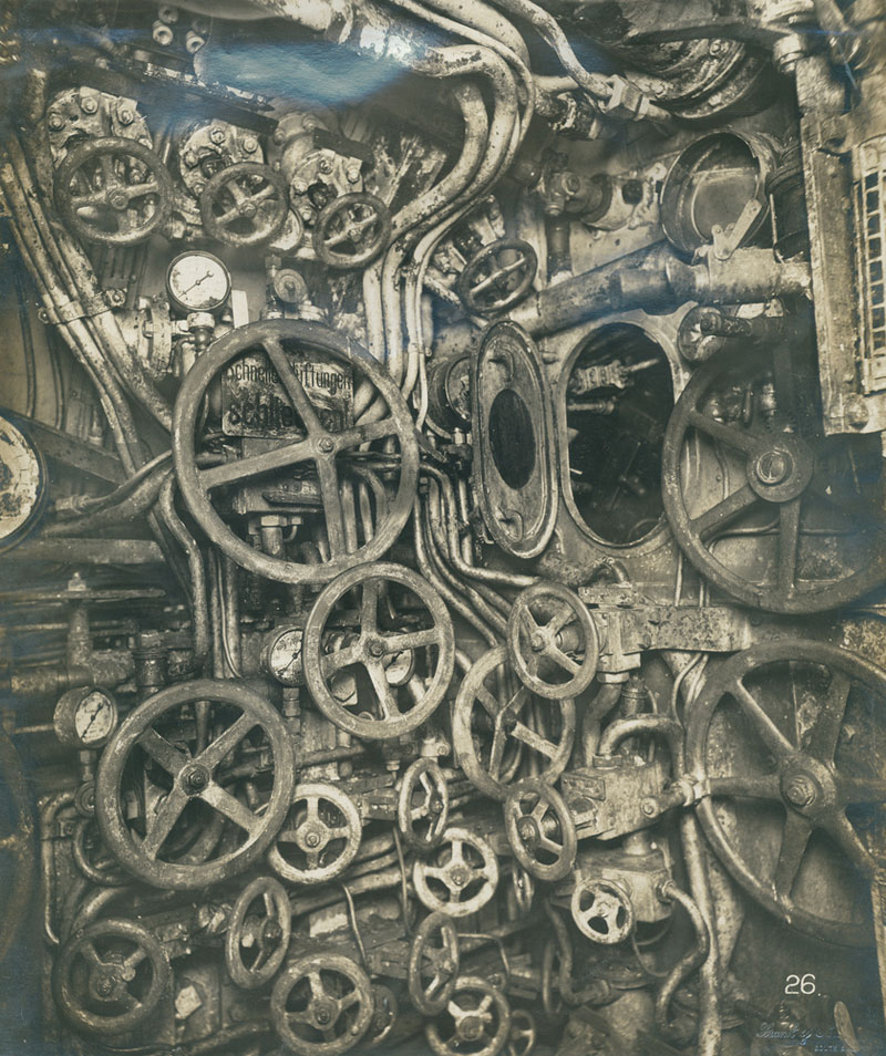 Picture of the Day: Vintage Submarine Control Room from 1918