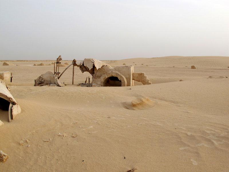 abandoned star wars tatooine movie set tunisia desert lars homestead  (5)