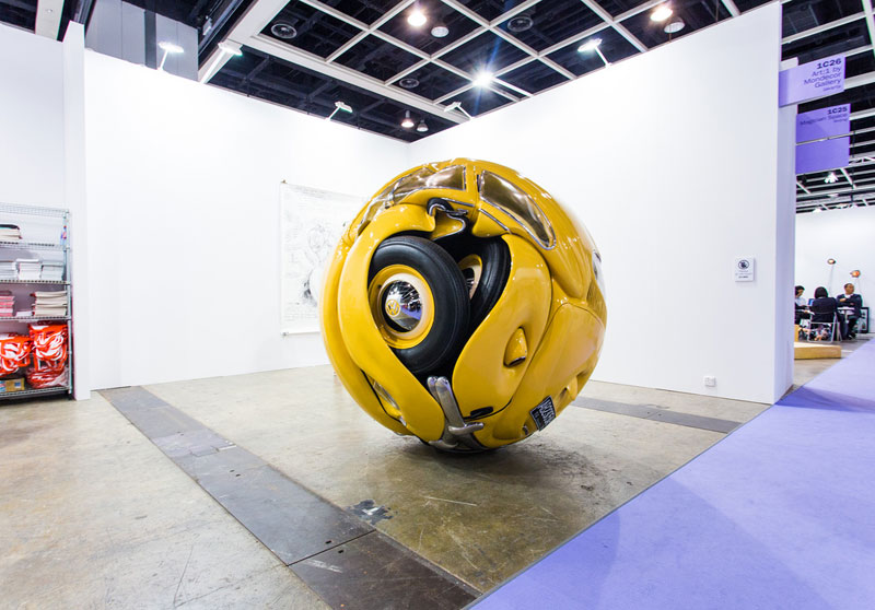 beetle sphere by ichwan noor 1 An Entire Amusement Park Crushed Into a Cube
