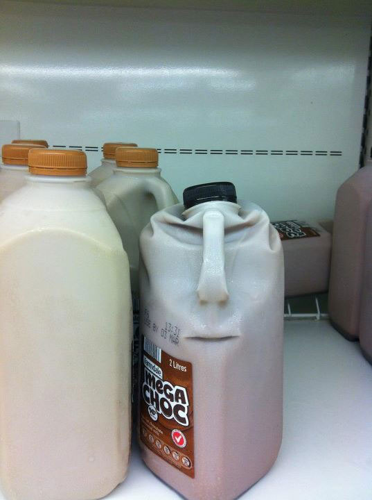 chocolate milk easter island 50 Faces in Everyday Objects