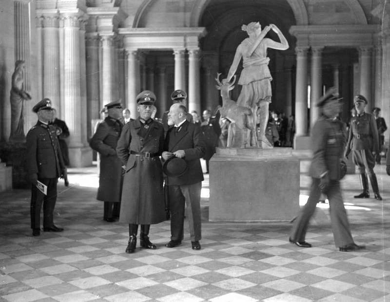 germans nazis Gerd von Rundstedt at the louvre