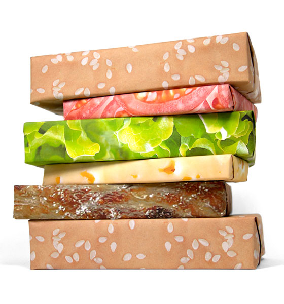 hamburger wrapping paper 1 This Book Looks Like a Giant Sandwich