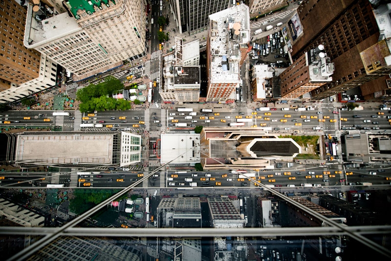intersection reflection avenue of the americas midtown manhattan new york city aerial from above Picture of the Day: Intersection of Reflection