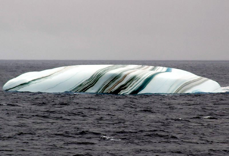 multicolored striped iceberg Picture of the Day: The Multicolored Iceberg