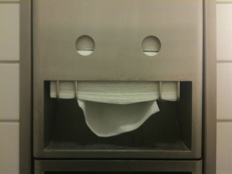 paper towel face 50 Faces in Everyday Objects