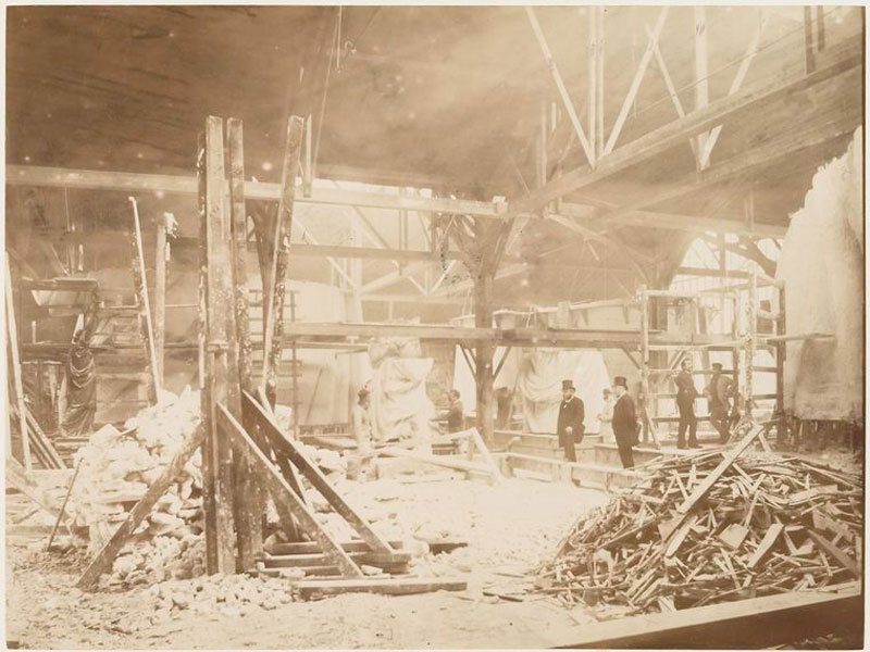rare photos statue of liberty under construction 1883 (3)