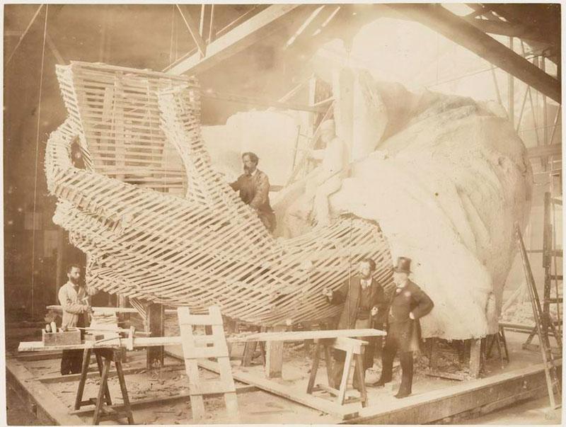 rare photos statue of liberty under construction 1883 (5)