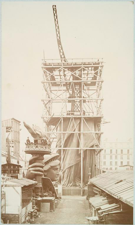rare photos statue of liberty under construction 1883 9 Someone Found a High School Yearbook from 1913 and Put it Online