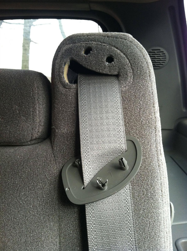 seatbelt derp face 50 Faces in Everyday Objects