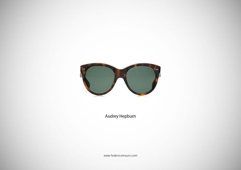 audrey hepburn glasses 15 Famous Eyeglasses