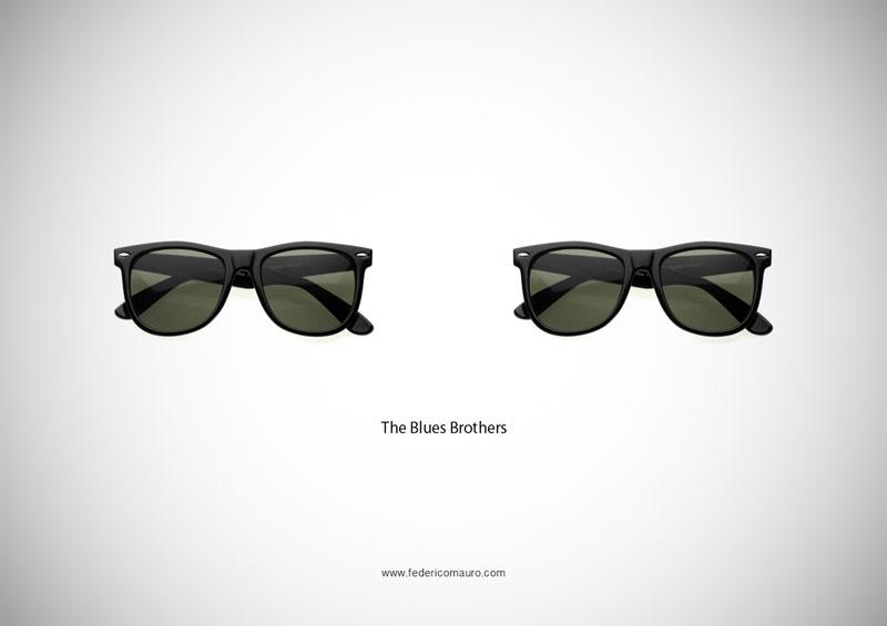 blue brothers glasses 15 Famous Eyeglasses