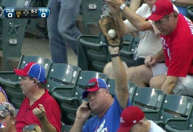 catching baseball on cell phone The Shirk Report   Volume 220