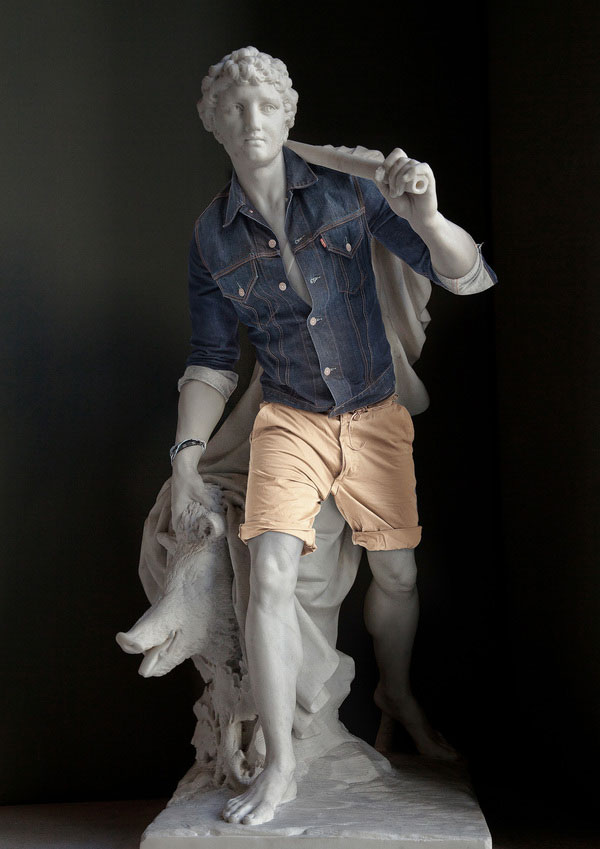 classic statues in modern clothes leo caillard alexis persani (5)
