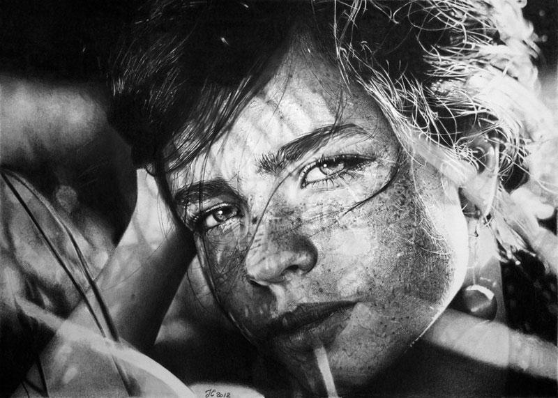 daria meadow by francoclun d5g8idl Hyperrealistic Portraits Drawn with Pencil