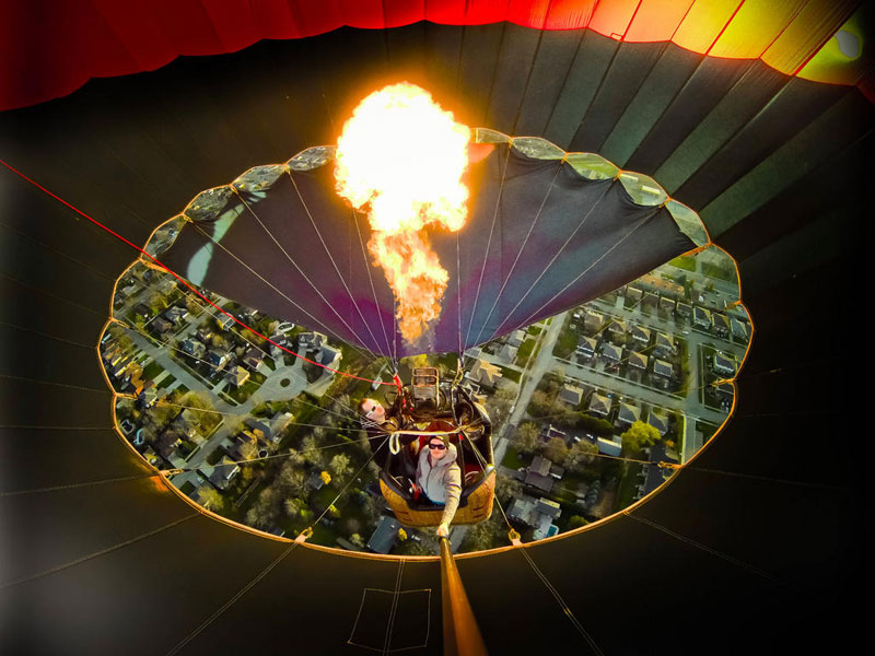 Picture of the Day: Inside a Hot Air Balloon