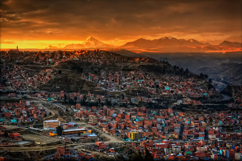 Picture of the Day: Sunset in La Paz