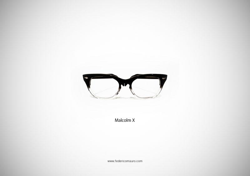 malcolm x glasses 15 Famous Eyeglasses