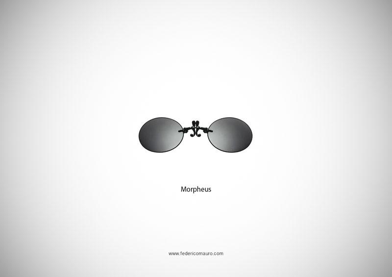 morpheus glasses 15 Famous Eyeglasses