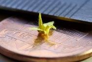 Picture of the Day: Origami Micro Crane