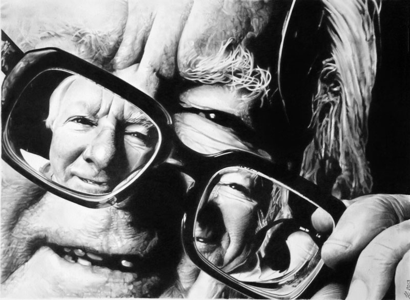 ray bradbury by francoclun d5zn64m These 3D Drawings Leap Off the Page