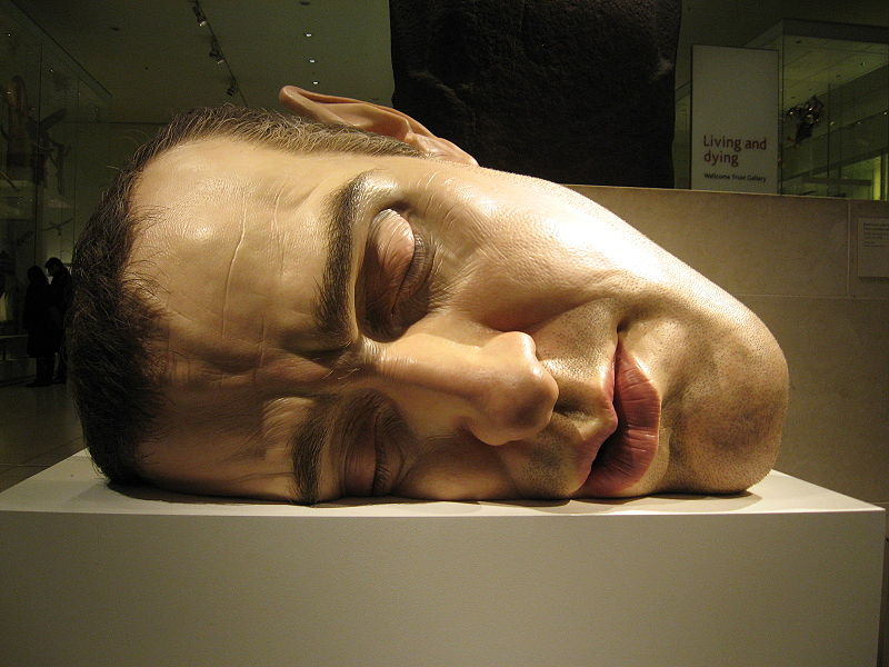 Ron_Mueck_head sculpture hyper realistic mask II