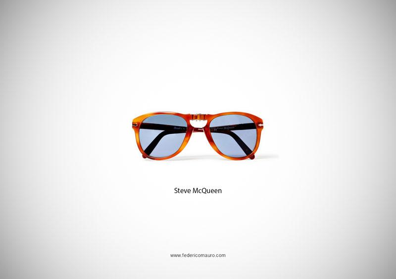 steve mcqueen glasses 15 Famous Eyeglasses