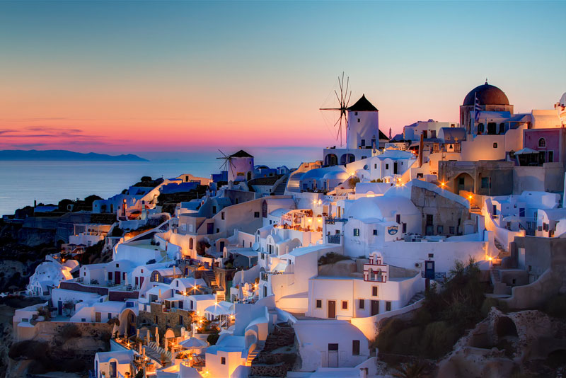 sunset oia santorini greece The Top 100 Pictures of the Day for 2013