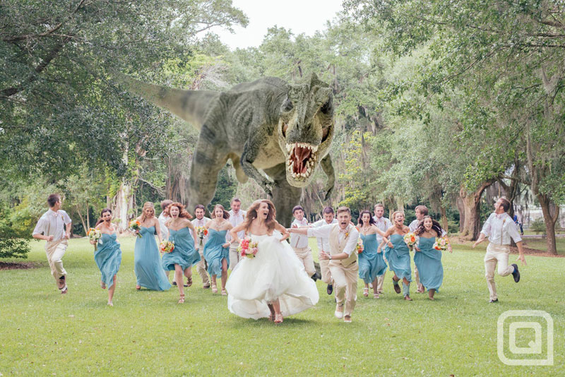 t rex wedding party photo dinosaur The Shirk Report   Volume 217